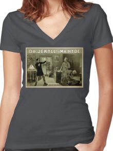 Gothic fiction - dr. jekyll and mr. Hyde Women's Fitted V-Neck T-Shirt