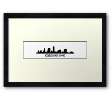 Cleveland Ohio Skyline City  Framed Print