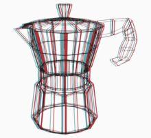 Coffee and 3D Kids Tee