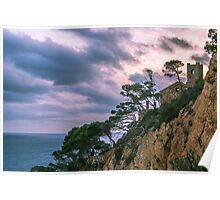 House at the mediterranean sea Poster