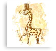 Count Giraffe Canvas Print