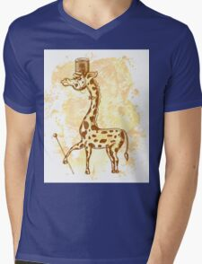 Count Giraffe Mens V-Neck T-Shirt