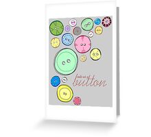 Cute as a Button Greeting Card