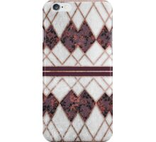Modern Elegant Rose Gold Triangles and Maroon Roses iPhone Case/Skin