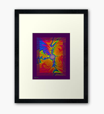 Psychedelic Rush Framed Print