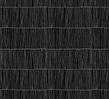 Wavy Lines Black by joannalinnea
