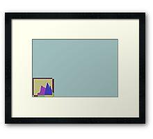 chart hills Framed Print