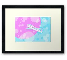 Flight to the other planet! Framed Print