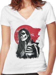 D black beauty Women's Fitted V-Neck T-Shirt