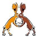 Boxing Hares by Matt West