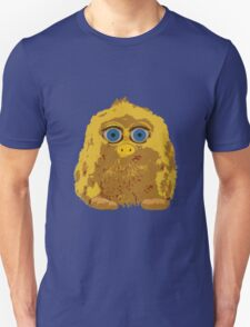 Cute Yellow Yeti Bigfoot With Big Blue Eyes T-Shirt