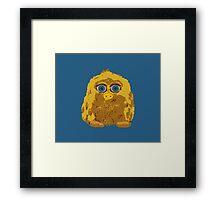 Cute Yellow Yeti Bigfoot With Big Blue Eyes Framed Print