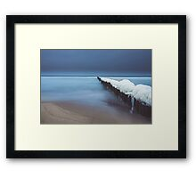 Evening by the sea Framed Print