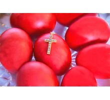 Greek Easter Eggs And Cross Photographic Print