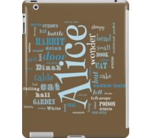 Alice in Wonderland Word Cloud 1 iPad Case/Skin