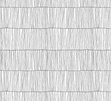 Wavy Lines White by joannalinnea