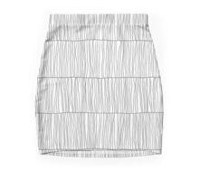 Wavy Lines White Mini Skirt