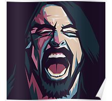 Dave Grohl. Foo fighters. Rock. Music. Poster