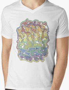 A Rainbow of Whales Mens V-Neck T-Shirt