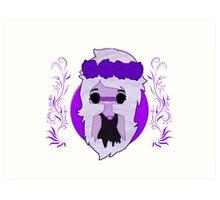 Amethyst - Flower Crown Art Print