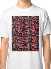 pattern in love birds with hearts Classic T-Shirt