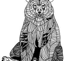 Istuva Karhu by joannalinnea