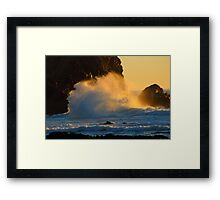 Jeremiah 31:5  Who stirs up the sea so that it's waves roar.... Framed Print