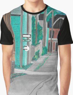Little Side Street  Graphic T-Shirt