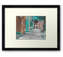 Little Side Street  Framed Print