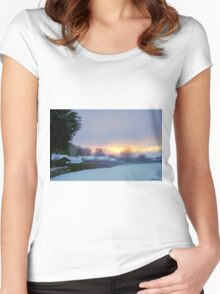Welcoming In Christmas! Women's Fitted Scoop T-Shirt