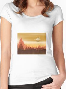 Steam punk gates of hell Women's Fitted Scoop T-Shirt