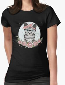 Rockabilly cat with glasses T-Shirt