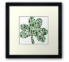 Drunken Shamrock St Patricks Day Framed Print