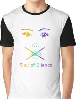 Rainbow Day of Silence Graphic T-Shirt