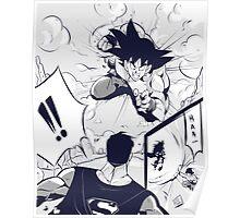Goku vs Superman Poster