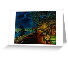 Hamilton bayfront at night Greeting Card