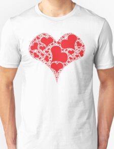 Heart made of hearts T-Shirt