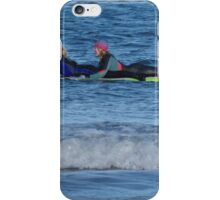 Riding the Green Board iPhone Case/Skin