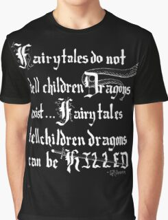 What Fairy Tales Do (GK Chesterton - White Text) Graphic T-Shirt