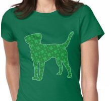 Labrador Retriever St. Patrick's Shamrock Pattern Womens Fitted T-Shirt