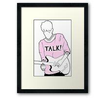 Adam Hann - TALK! Framed Print