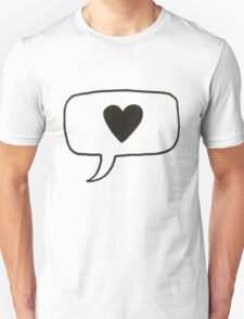 Heart Message Hand Drawn T-Shirt