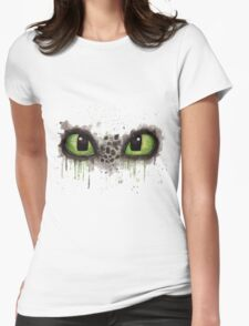 Toothless' eyes in watercolour Womens Fitted T-Shirt