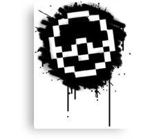 Pokeball Spray paint Canvas Print