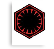 Star Wars Empire Symbol Worn Canvas Print