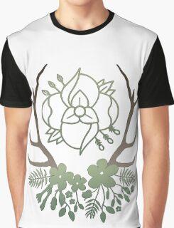 La Dispute Antlers - Earthtones Graphic T-Shirt