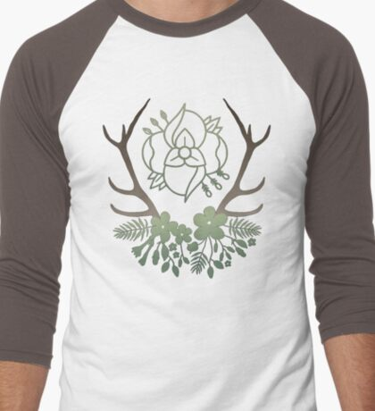 La Dispute Antlers - Earthtones Men's Baseball ¾ T-Shirt