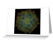 Psy Rainbow Hexagons NeoGeo Art Greeting Card