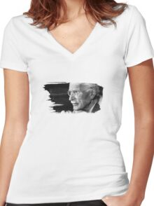 Carl Gustav Jung Women's Fitted V-Neck T-Shirt
