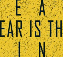 Dune - The Litany Against Fear (White) Sticker